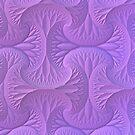 Lavender Three Dimensional Fractal Pattern by Lyle Hatch