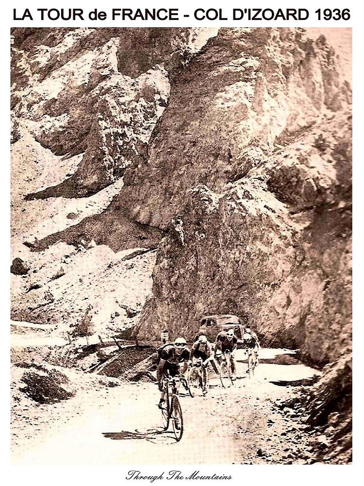 TOUR de FRANCE Vintage 1936 Col D Izoard Print by posterbobs