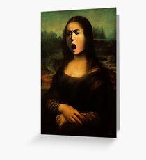 Mona Medusa  Greeting Card