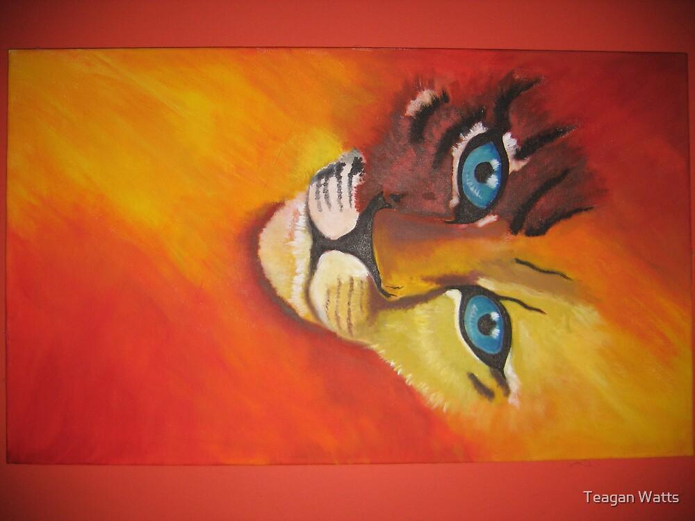 half lion, half tiger by Teagan Watts