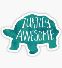 Turtley Awesome - Pun Sticker