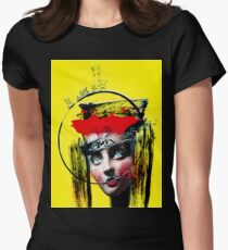 surreal punk girl urban portrait Womens Fitted T-Shirt