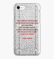 Maze Runner quoted art iPhone Case/Skin
