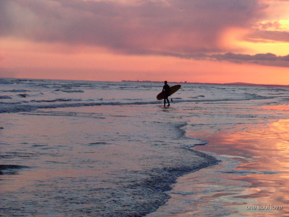 surfer at sunset by chrisdade