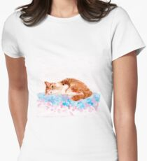Cheeky Cat Women's Fitted T-Shirt