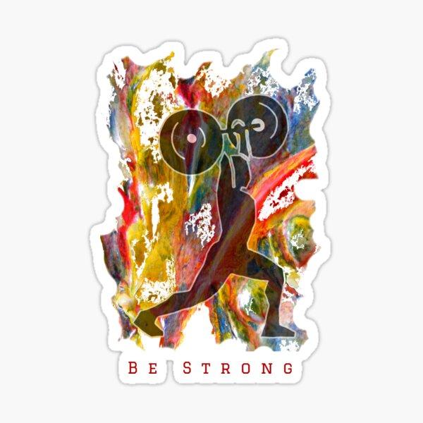 BE STRONG - POWER WEIGHTLIFTER Sticker