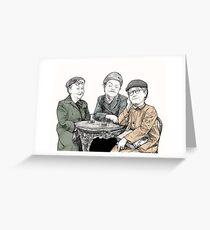 Ena, Minnie and Martha Classic Coronation Street Greeting Card