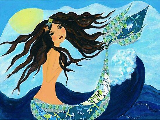 Mermaid, Summer, Waves and Sea by Sukilopi
