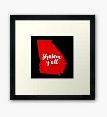 SHALOM, Y'ALL GEORGIA Framed Print