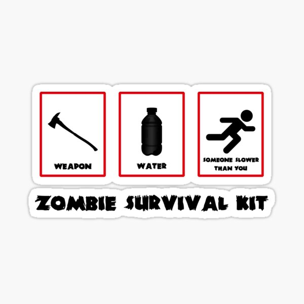 Zombie Novelty Items Blood Tin Zombie Survival Kit Metal Lunch Box