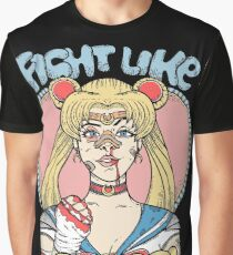 Sailor Moon- Fight Like a Girl Graphic T-Shirt