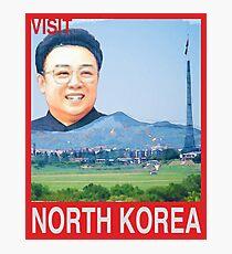 Visit NORTH KOREA Travel Poster Photographic Print