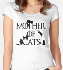 Mother of Cats Daenerys Spoof Crazy Cat Lady GoT Women's Fitted Scoop T-Shirt