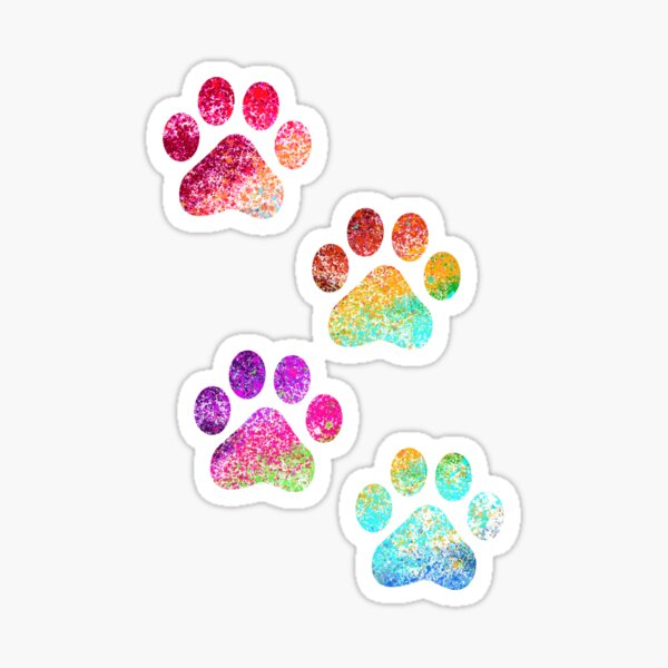 Paw print Sticker