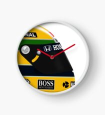 Ayrton Senna helmet profile Clock