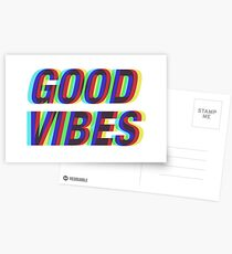 Postales Good Vibes Techicolor