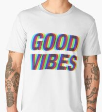Good Vibes Techicolor Men's Premium T-Shirt