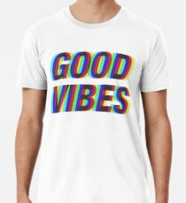 Good Vibes Techicolor Men's Premium T-Shirt