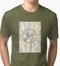 MOSCOW METRO Tri-blend T-Shirt
