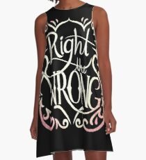 Right the Wrong A-Line Dress