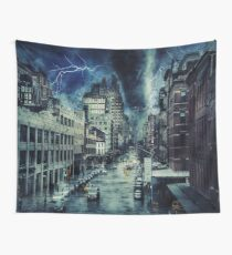 City Apocalypse , World War Wall Tapestry
