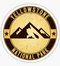 YELLOWSTONE NATIONAL PARK WYOMING MOUNTAINS HIKING CAMPING CLIMBING EXPLORE NATURE Sticker