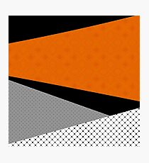 Abstract black orange painting . Photographic Print