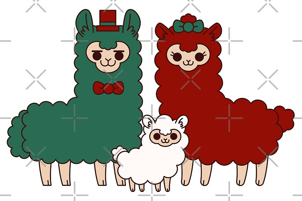 Jolly alpaca family by kittybox