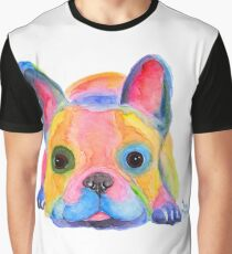 French Bulldog PRiNT ' AM I FRENCH ? ' by Shirley MacArthur Graphic T-Shirt