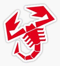 Abarth scorpion (red) Sticker