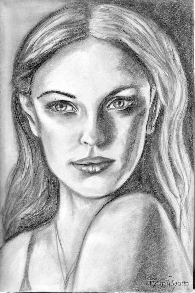 black and white face by Teagan Watts