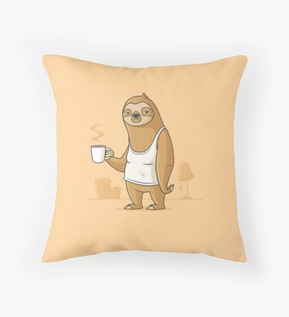 Monday Morning Depresso Throw Pillow