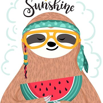 Cute hippie sloth by dasha-d