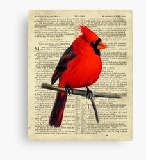 Red Cardinal on Psalm 23 Canvas Print