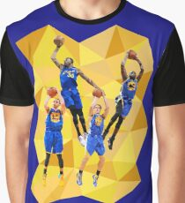Curry KD Klay Draymond - Warriors - Super Team - Low Poly Graphic T-Shirt
