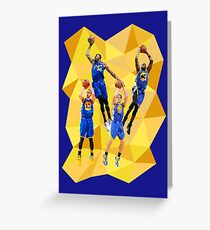 Curry KD Klay Draymond - Warriors - Super Team - Low Poly Greeting Card