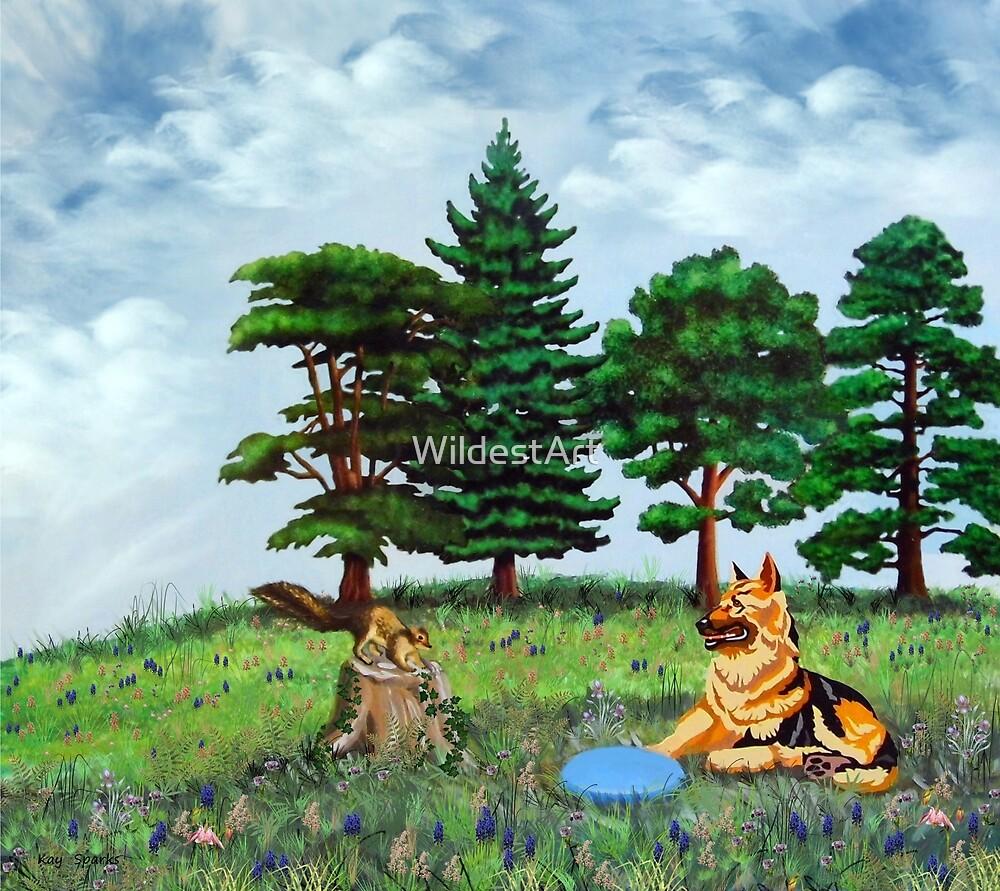 Keala & The Squirrel by WildestArt