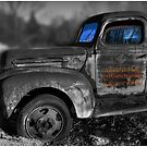 The Old Fords Blue Windows by Wayne King