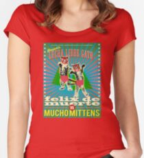 Lucha Libre Gato Women's Fitted Scoop T-Shirt