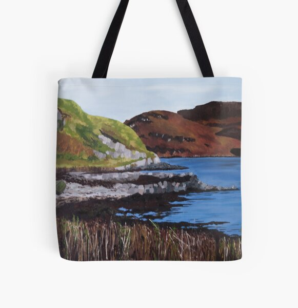 Clear Skies over Tignabruich, Scotland All Over Print Tote Bag