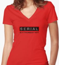 Serial Podcast Women's Fitted V-Neck T-Shirt