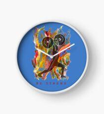 BE STRONG - POWER WEIGHTLIFTER Clock