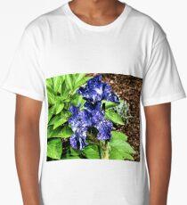 Varigated Blue Iris Long T-Shirt