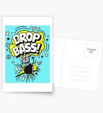 Drop Bass not Bombs! Postkarten
