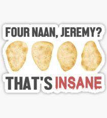 Four Naan? Sticker