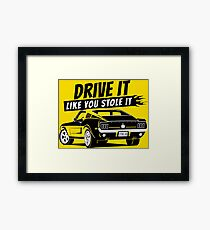 Drive it - fastback Framed Print