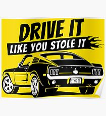 Drive it - fastback Poster