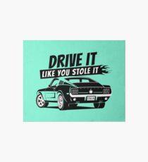 Drive it - fastback Galeriedruck