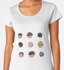 Team Fortress 2 Merc Heads (BLU) Women's Premium T-Shirt