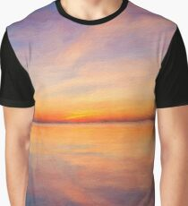 Abstract Sunset Landscape Graphic T-Shirt
